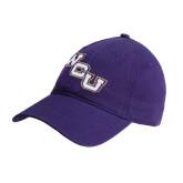 Purple Twill Unstructured Low Profile Hat-WCU