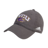 Adidas Charcoal Slouch Unstructured Low Profile Hat-WCU w/Head