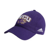 Adidas Purple Slouch Unstructured Low Profile Hat-WCU w/Head