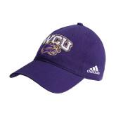 Adidas Purple Slouch Unstructured Low Profile Hat-WCU w/Head