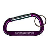 Purple Carabiner with Split Ring-Catamounts Engraved