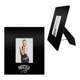 Black Metal 5 x 7 Photo Frame-WCU w/Head Inverse Engraved