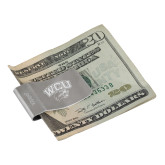 Zippo Silver Money Clip-WCU w/Head Inverse Engraved