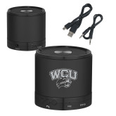 Wireless HD Bluetooth Black Round Speaker-WCU w/Head Inverse Engraved