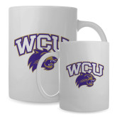 Full Color White Mug 15oz-WCU w/Head