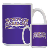 Full Color White Mug 15oz-Western Carolina Catamounts