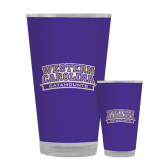 Full Color Glass 17oz-Western Carolina Catamounts