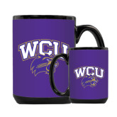 Full Color Black Mug 15oz-WCU w/Head