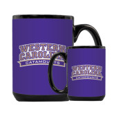 Full Color Black Mug 15oz-Western Carolina Catamounts