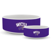 Ceramic Dog Bowl-WCU w/Head