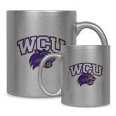 11oz Silver Metallic Ceramic Mug-WCU w/Head