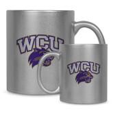 Full Color Silver Metallic Mug 11oz-WCU w/Head