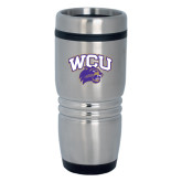 Rolling Ridges Silver Stainless Tumbler 16oz-WCU w/Head