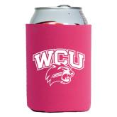 Neoprene Hot Pink Can Holder-WCU w/Head