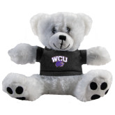 Plush Big Paw 8 1/2 inch White Bear w/Black Shirt-WCU w/Head