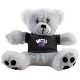 Plush Big Paw 8 1/2 inch White Bear w/Black Shirt-WCU w/Head