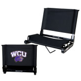 Stadium Chair Black-WCU w/Head