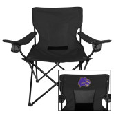 Deluxe Black Captains Chair-Catamount Head