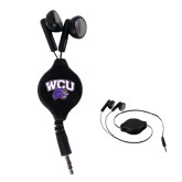 Black Retractable Ear Buds-WCU w/Head