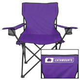 Deluxe Purple Captains Chair-Western Carolina Catamounts