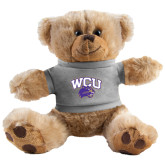 Plush Big Paw 8 1/2 inch Brown Bear w/Grey Shirt-WCU w/Head