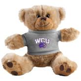 Plush Big Paw 8 1/2 inch Brown Bear w/Grey Shirt-WCU w/Head