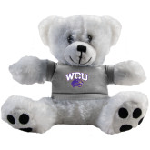 Plush Big Paw 8 1/2 inch White Bear w/Grey Shirt-WCU w/Head