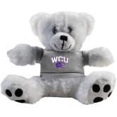 Plush Big Paw 8 1/2 inch White Bear w/Grey Shirt-WCU w/Head