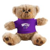 Plush Big Paw 8 1/2 inch Brown Bear w/Purple Shirt-WCU w/Head
