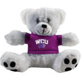 Plush Big Paw 8 1/2 inch White Bear w/Purple Shirt-WCU w/Head