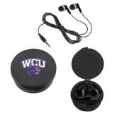 Ear Buds in Black Case-WCU w/Head
