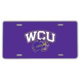 License Plate-WCU w/Head