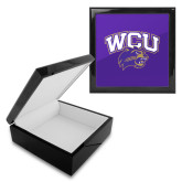 Ebony Black Accessory Box With 6 x 6 Tile-WCU w/Head