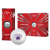 Callaway Chrome Soft Golf Balls 12/pkg-WCU w/Head