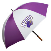 64 Inch Purple/White Umbrella-WCU w/Head
