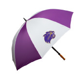 64 Inch Purple/White Umbrella-Catamount Head