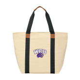 Natural/Black Saratoga Tote-WCU w/Head