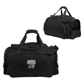 Challenger Team Black Sport Bag-Western Carolina Catamounts Stacked