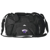 High Sierra Black Switch Blade Duffel-WCU w/Head