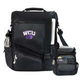 Momentum Black Computer Messenger Bag-WCU w/Head