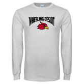 White Long Sleeve T Shirt-Wheeling Jesuit
