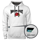 Contemporary Sofspun White Hoodie-Wheeling Jesuit