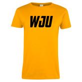 Ladies Gold T Shirt-WJU