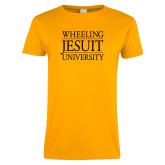 Ladies Gold T Shirt-Wheeling Jesuit University