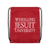 Cardinal Drawstring Backpack-Wheeling Jesuit University