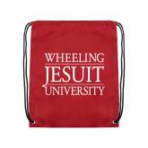 Cardinal Drawstring Backpack-Wheeling Jesuit University