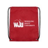 Cardinal Drawstring Backpack-WJU