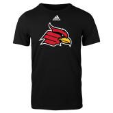 Adidas Black Logo T Shirt-Cardinal