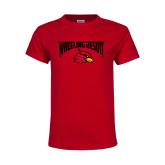 Youth Red T Shirt-Wheeling Jesuit