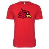 Next Level SoftStyle Red T Shirt-Cardinal
